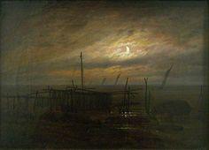 Caspar David Friedrich, Bord de mer au clair de lune