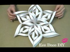 A tutorial teaching how to make an origami star designed by Ali Bahmani. This wonderful origami star is made from 1 sheet of pentagonal paper. 3d Paper Snowflakes, How To Make Snowflakes, Christmas Snowflakes, Christmas Star, Christmas Crafts, Christmas Ornaments, Diy Francais, Diy Paper, Paper Crafts