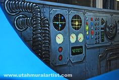 Control panel for the submarine.