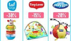 Купи бебешки играчки за 1ви Юни с отстъпка до -30%! Намаление на цели марки, сред които: Taf Toys, Tiny Love, Canpol, Playgro, Baby Art https://profitshare.bg/l/153250