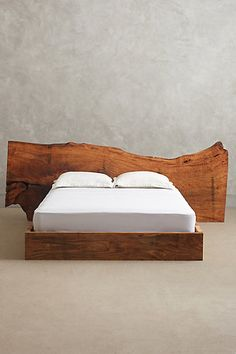 Live Edge Wood Queen Bed -