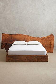 Live Edge Wood Queen Bed -
