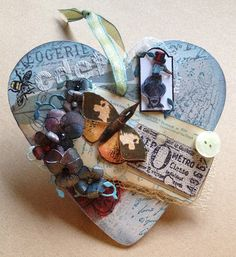 Castle-Kelly Crafts Blog: Mixed Media Heart