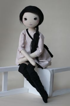 Klara- roma cudna, handmade doll by romaszop