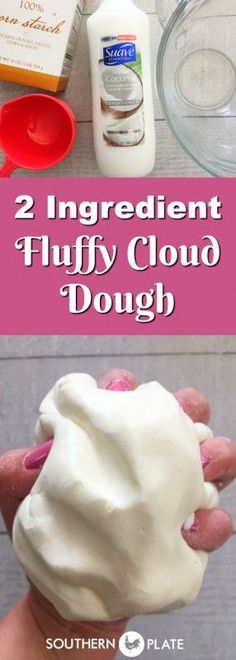 2 Ingredient Fluffy Cloud Dough ~ http://www.southernplate.com