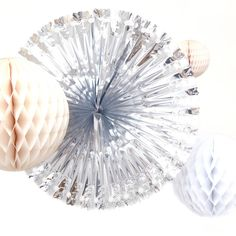 Metallic Fan Decoration