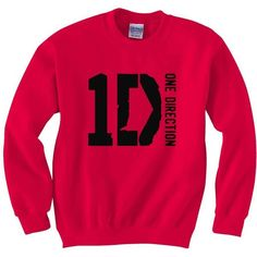 New One Direction 1D sweatshirt 1 D British boy band fan crewneck sweaters S-3XL found on Polyvore