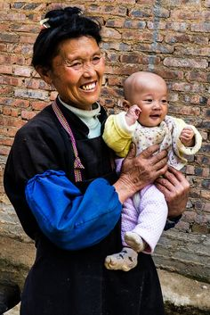 All sizes | Grandmother and Grandchild of Gaoyao village - Bazhai Miao | Flickr - Photo Sharing!