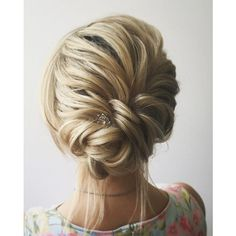 This beautiful wedding hair updo hairstyle will inspire you ❤ liked on Polyvore featuring hair