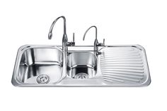 Best Double Kitchen Sink with Drainboard - http://kitchensdesigning.com/best-double-kitchen-sink-with-drainboard/