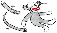 Sock Monkeys are all the rage again,  but remember the original red-heel sock monkey your grandma made?  Here are the instructions to make them!