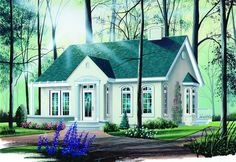 COOL house plans offers a unique variety of professionally designed home plans with floor plans by accredited home designers. Styles include country house plans, colonial, Victorian, European, and ranch. Blueprints for small to luxury home styles. Cottage Style House Plans, Cottage Floor Plans, Cottage Style Homes, Cottage Design, House Floor Plans, House Design, Small Floor Plans, Small House Plans, Drummond House Plans