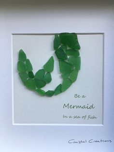 Mermaid sea glass art