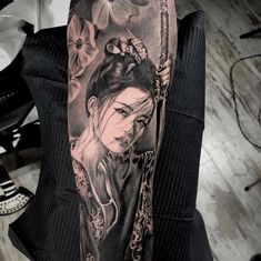 attoo art by eduardo cuadros tatto art attoo e Tattoo Girls, Girl Back Tattoos, Girls With Sleeve Tattoos, Tattoos 3d, Geisha Tattoos, Body Art Tattoos, Geisha Tattoo Sleeve, Samurai Tattoo Sleeve, Spine Tattoos