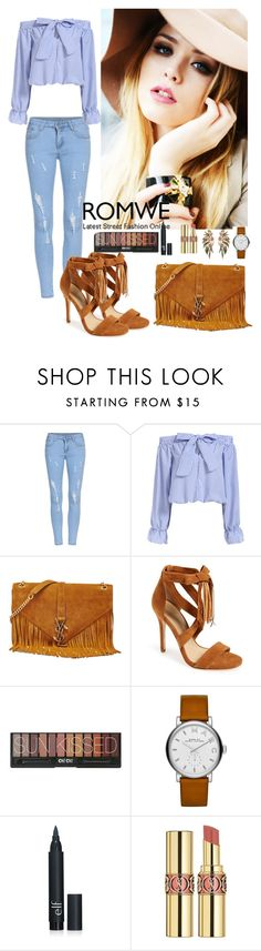 """""""Romwe 9"""" by amra-f ❤ liked on Polyvore featuring Yves Saint Laurent, Marc Fisher LTD, Marc by Marc Jacobs, romwe and 5sos"""