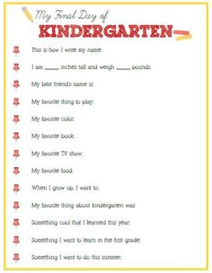 Final Day of Kindergarten Interview - Click image or link to download