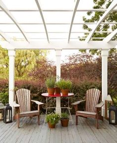 <p>Pots of Marguerite daisies, lavender, and alliums brighten the porch off the library of this <a h... - Max Kim-Bee