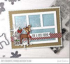 Stamps: Dashing Deer Die-namics: Dashing Deer, Let It Snowflake Too, Blueprints 27 Jodi Collins #mftstamps