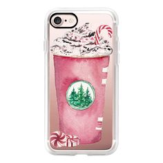 Red Cup Season Christmas Starbucks Peppermint Mocha Candy Cane Coffee... ($40) ❤ liked on Polyvore featuring accessories, tech accessories, iphone case, red iphone case, iphone cover case, apple iphone cases and iphone cases