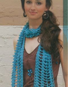 This would be a super cute summer scarf.  It's light and stylish!