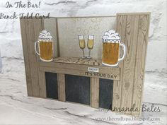 The Bar Bench Fold Card featuring Mixed Drinks, Hardwood & Big on Birthdays by Amanda Bates at The Craft Spa. Independent Stampin' Up! UK Demonstrator, Blogger & Online Shop