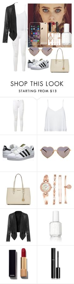 """""""Untitled #5"""" by larnyssxo on Polyvore featuring beauty, Frame Denim, Alice + Olivia, adidas Originals, Wildfox, MICHAEL Michael Kors, Anne Klein, Essie and Chanel"""