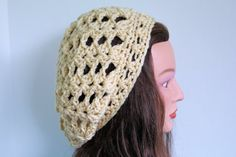 cream yellow Oversized Winter Hat Slouchy Beanie Slouchy Hat Baggy womens fall winter accessory Beret Chunky Hand Made crochett via Etsy