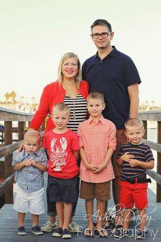 Ashley Daley Photography | Nautical Family Photos, Family of 6, Family Pictures, Beach, Balboa Island