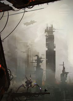 Clandestinio_city by AlexanderBrox0101 (Joseba Alexander) | Sci-fi futuristic city ship spacecraft aircraft