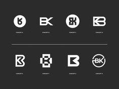 BK's by Eddie Lobanovskiy for Unfold on Dribbble Self Branding, Logo Branding, Branding Design, Personal Branding, Artist Branding, Personal Logo, Corporate Branding, Ui Design, Brand Identity