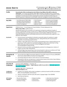 Military To Civilian Resumes  Military Resume Example Sample
