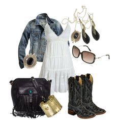 A fashion look from April 2012 featuring Madewell jackets, Corral boots and Rebecca Minkoff tote bags. Browse and shop related looks.