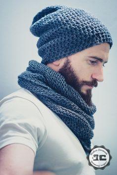 10 patrons pour faire un bonnet au crochet Beanie homme Crochet Mens Hat Pattern, Crochet Mens Scarf, Chunky Crochet Hat, Bonnet Crochet, Crochet Beanie, Cute Crochet, Crochet Shawl, Knitted Hats, Knit Crochet