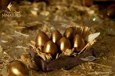 crate of golden goose eggs -PixieDustMiniatures