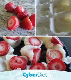 Morango + iogurte grego = docinho light! Os poderes antioxidantes da fruta ajudam a combater os radicais livres enquanto os probióticos existentes no iogurte ajudam o seu intestino a trabalhar melhor. Mais dicas como essa em: https://facebook.com/cyberdietoficial