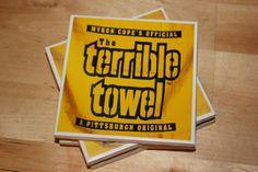 Set of 4 Ceramic Tile Coasters  Pittsburgh Steelers by joysSTILES, $10.00