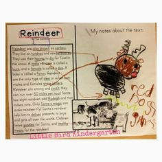 Guiding little ones to engage in and annotate text with the holidays in mind.