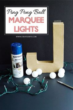 After the success of my DIY ping pong ball lights on our patio, it was an easy jump to consider using the same concept to make vintage theater-style marquee lig…