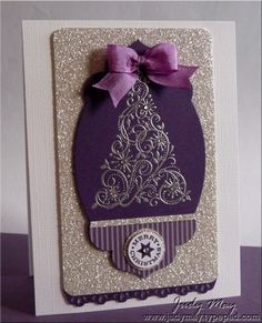 Stampin' Up! Christmas by Judy May: Eggplant Snow Swirled