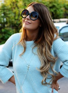 ombre, waves
