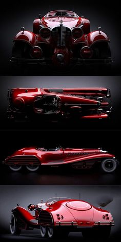 The Red Skull Coupe Concept - Hail Hydra!-The Red Skull Coupe Concept – Hail Hydra! Red Skull + Coupe + Concept + Red Skull Coupe Concept + Daniel Simon + Mercedes + Mercedes 540 K + Mercedes + Captain America + supercharged - Sweet Cars, Mazda Concept Car, Mercedes Concept, Lamborghini Concept, Supercars, Carros Lamborghini, Carros Bmw, Cars Vintage, Bmw Z4