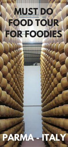 One of the best foodie tours you can ever do.  BOOK NOW!   The best food tour in Parma Italy.  A must for any travelling foodie. Learn how parma ham, balsamic vinegar and parmigiano reggiano cheese is made, the authentic way.