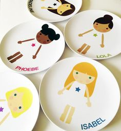 Little Me personalized plates and dress up cutters