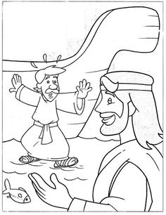 Peter walks on water coloring page | Summer BLAST | Pinterest ...