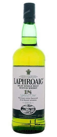 Laphroaig 18 Year Old Single Malt Scotch Whisky, Islay, Scotland