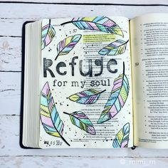 I really want one of these Bibles. Bible Journaling by @_mimi_rn