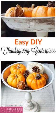 Craftaholics Anonymous® | DIY Thanksgiving Centerpiece Holder: with Free Tutorial