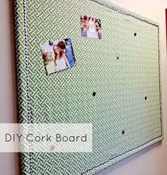 {DIY} Cork Board ~ Idea to cover the outlet box