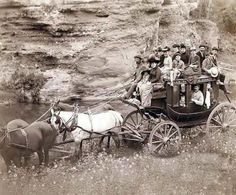 An old stagecoach, 1890