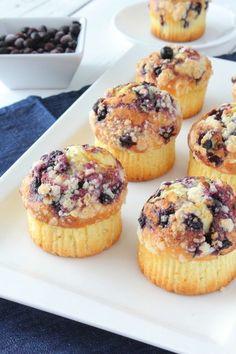 Muffins Moelleux aux Myrtilles & son Crumble - Chocociframboise | Le blog